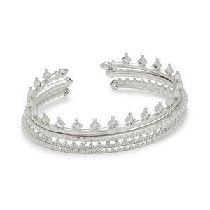 Kendra Scott Delphine Silver Pinch Bracelet Set